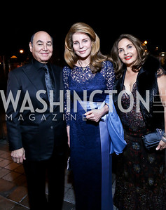 Huda Farouki, Queen Noor, Samia Farouki. Photo by Tony Powell. 45th Annual Meridian Ball UAE Dinner. October 18, 2013