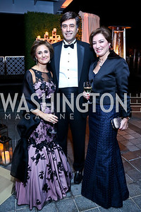 Darya Nasr, Shaygan Kheradpir, Leela Ghaffari. Photo by Tony Powell. 45th Annual Meridian Ball UAE Dinner. October 18, 2013