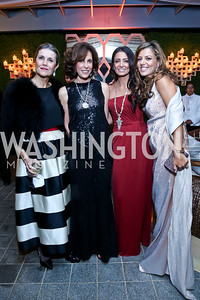Lady Palumbo, Beth Dozoretz, Abeer Al-Otaiba, Dalia Fateh. Photo by Tony Powell. 45th Annual Meridian Ball UAE Dinner. October 18, 2013