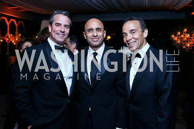 Stuart Holliday, UAE Amb. Yousef Al-Otaiba, Ricardo Ernst. Photo by Tony Powell. 45th Annual Meridian Ball UAE Dinner. October 18, 2013