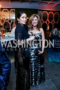 Tania Paiva, Dima Al Faham. Photo by Tony Powell. 45th Annual Meridian Ball UAE Dinner. October 18, 2013