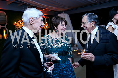 Fred and Marlene Malek, Ron Dozoretz. Photo by Tony Powell. 45th Annual Meridian Ball UAE Dinner. October 18, 2013