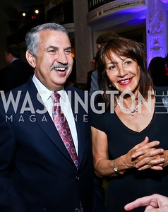 Thomas Friedman, Nora Pouillon. Photo by Tony Powell. 4th Annual Climate Leadership Gala. Mayflower Hotel. May 22, 2013