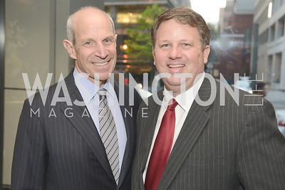 Jonathan Tisch and John Arundel, 50th Anniversary of Loews Madison Hotel.  Washington Life Exclusive.  Wednesday April 30, 2013.  Photo by Ben Droz.