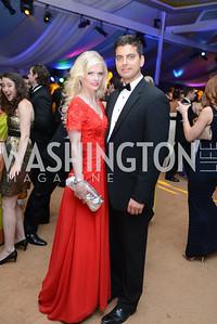 Hilke Eyler, Conrad Jakubow, 5th Anniversary Ball on the Mall. Saturday, May 4, 2013.  Photo by Ben Droz.