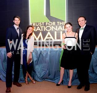 M.I. Duffy, Maria Viscaino, Elizabeth Temmer, Joseph Shetler, 5th Anniversary Ball on the Mall. Saturday, May 4, 2013.  Photo by Ben Droz.