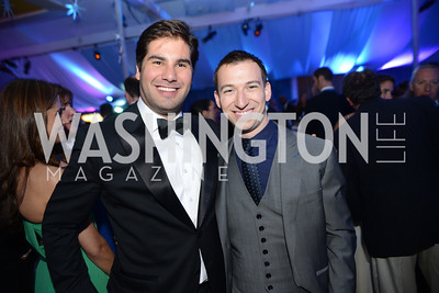 Emil Caillaux, Alex Priest, 5th Anniversary Ball on the Mall. Saturday, May 4, 2013.  Photo by Ben Droz.