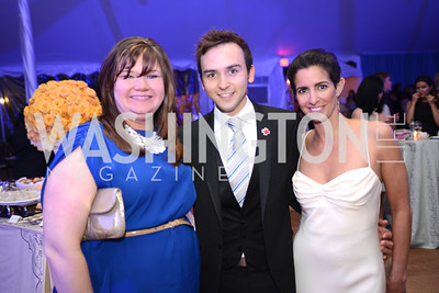 Jen Richter, Tommy McFly, Kelly Collis, 5th Anniversary Ball on the Mall. Saturday, May 4, 2013.  Photo by Ben Droz.