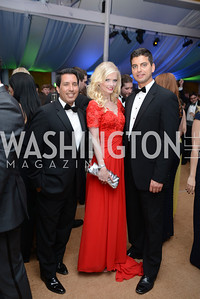 Sergio Rodriguera Jr., Hilke Eyler, Conrad Jakubow, 5th Anniversary Ball on the Mall. Saturday, May 4, 2013.  Photo by Ben Droz.