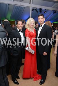 Sergio Rodriguera Jr., Hilke Eyler, Conrad Jakubow, 5th Anniversary Ball on the Mall. Saturday, May 4, 2013.  Photo by Ben Droz.