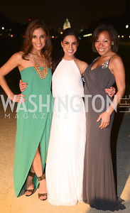 Nasim Deylami, Ava Deylami, Casey Baines, 5th Anniversary Ball on the Mall. Saturday, May 4, 2013.  Photo by Ben Droz.