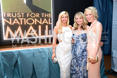 Lindley Thornburg, Lauren Pillsbury, Josie Taylor, R-L 5th Anniversary Ball on the Mall. Saturday, May 4, 2013.  Photo by Ben Droz.