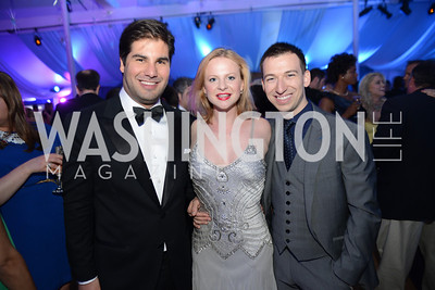 Emil Caillaux, Miranda Gale, Alex Priest, 5th Anniversary Ball on the Mall. Saturday, May 4, 2013.  Photo by Ben Droz.