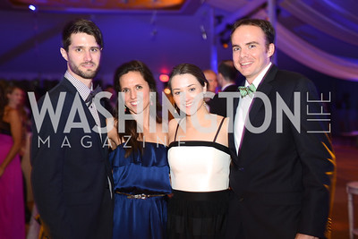 M.I. Duffy, Maria Viscaino, Elizabeth Temmer, Joseph Shetler, 5th Anniversary Ball on the Mall. Saturday, May 4, 2013.  Photo by Ben Droz.