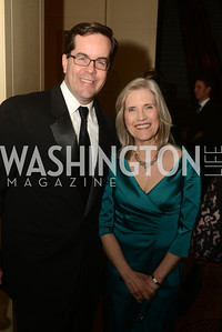 Martin Kady II, Beth Frerking, The Washington Press Club Foundation hosts the 69th Annual Congressional Dinner at the Mandarin Oriental.