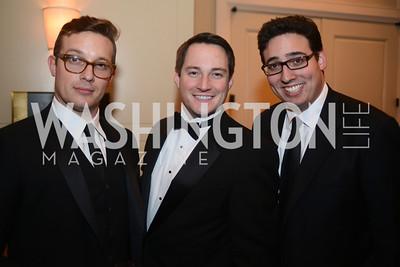 Benny Johnson, Jacob Wood, Matt Vasilogambros,  The Washington Press Club Foundation hosts the 69th Annual Congressional Dinner at the Mandarin Oriental.