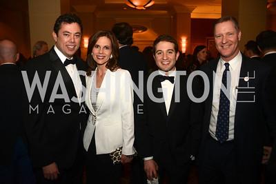 Rep. Jason Chaffetz, Julie Chaffetz, Jake Sherman, Rep. Steve Stivers,  The Washington Press Club Foundation hosts the 69th Annual Congressional Dinner at the Mandarin Oriental.