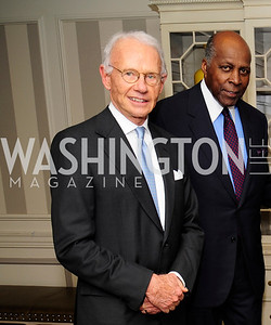 Roger Sant,Vernon Jordan,January 20,2013,A Bi-Partisan Celebration Of The Inauguration of Barack Obama at The Madison Hotel,Kyle Samperton