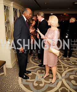 Vernon Jordan, Sally Quinn, ,January 20,2013,A Bi-Partisan Celebration Of The Inauguration of Barack Obama at The Madison Hotel,Kyle Samperton