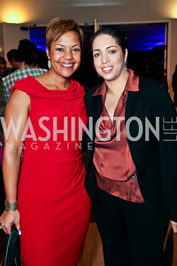 Stacie Scott, Joigie Hayes Tolson. Photo by Tony Powell. A Standing Ovation for DC Teachers. Kennedy Center. January 14, 2013