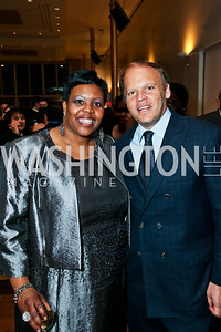 D.C. Schools Chancellor Kaya Henderson, Mark Ein. Photo by Tony Powell. A Standing Ovation for DC Teachers. Kennedy Center. January 14, 2013