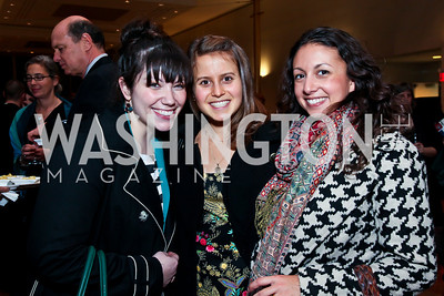 Megan Siebert, Emma Fisher, Courtney Haynes. Photo by Tony Powell. A Standing Ovation for DC Teachers. Kennedy Center. January 14, 2013