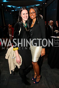 Jessica Rauch, Ashley Vann. Photo by Tony Powell. A Standing Ovation for DC Teachers. Kennedy Center. January 14, 2013