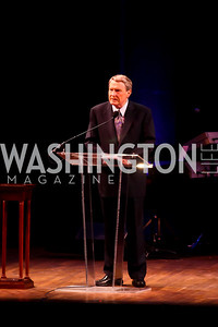 Jim Lehrer. Photo by Tony Powell. A Standing Ovation for DC Teachers. Kennedy Center. January 14, 2013