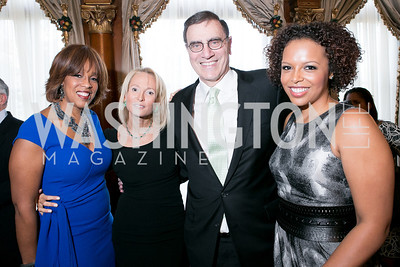 Gayle King, Pamela Gross, Jimmy Finkelstein, Kirby Bumpus. Photo by Alfredo Flores. A Cocktail Reception at the Turkish Embassy Residence. April 26, 2013.
