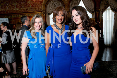 Tara Chantal Silver, Gayle King, Fran Holuba. Photo by Alfredo Flores. A Cocktail Reception at the Turkish Embassy Residence. April 26, 2013.
