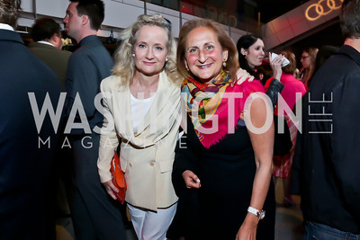 Pamela Keogh, Beth Mendelson. Photo by Tony Powell. AFI Silverdocs Opening Night Gala. Newseum. June 19, 2013