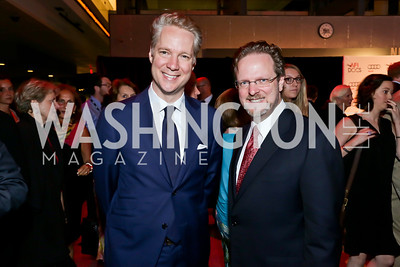 Audi of America President and CEO Scott Keogh, AFI President Bob Gazzale. Photo by Tony Powell. AFI Silverdocs Opening Night Gala. Newseum. June 19, 2013