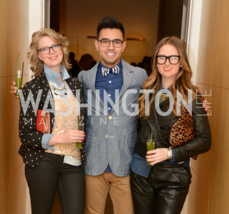 Ashleigh Toner, Diego Gonzalez, Kasie Clouser, ARTINI, The Corcoran, 1869 Society.  March 22, 2013, Art and Cocktails.  Photo by Ben Droz.
