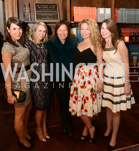 Melanie Kimmelman, Katie Funk, Philippa Hughes, Carly Bedell, Katie Funk, Morgan Gress, ARTINI, The Corcoran, 1869 Society.  March 22, 2013, Art and Cocktails.  Photo by Ben Droz.