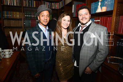 Juan Coronado, Emily Kearney, Chris Schmid,  ARTINI, The Corcoran, 1869 Society.  March 22, 2013, Art and Cocktails.  Photo by Ben Droz.