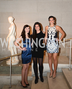 Alex Kwit, Michelle Blanter, Danielle Sunberg,  ARTINI, The Corcoran, 1869 Society.  March 22, 2013, Art and Cocktails.  Photo by Ben Droz.
