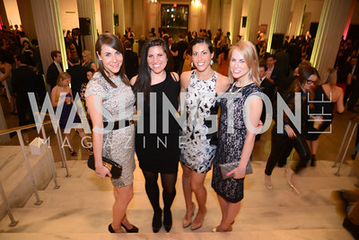 Melanie Kimmelman, Michelle Blanter, Danielle Sunberg, Katie Funk, ARTINI, The Corcoran, 1869 Society.  March 22, 2013, Art and Cocktails.  Photo by Ben Droz.