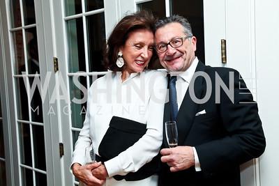 Aniko Gaal Schott, John Vardas. Photo by Tony Powell. Alliance Francaise Educational Initiatives Benefit Dinner. French Ambassador's Residence. April 11, 2013