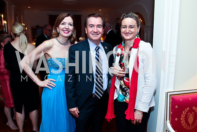 Marie Royce and Rep. Ed Royce, Gabrielle Gauthey. Photo by Tony Powell. Alliance Francaise Educational Initiatives Benefit Dinner. French Ambassador's Residence. April 11, 2013