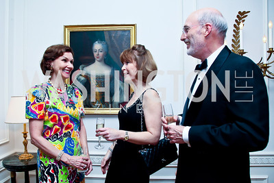 Heidi Debevoise, Nancy and Paul Schlegel. Photo by Tony Powell. Alliance Francaise Educational Initiatives Benefit Dinner. French Ambassador's Residence. April 11, 2013
