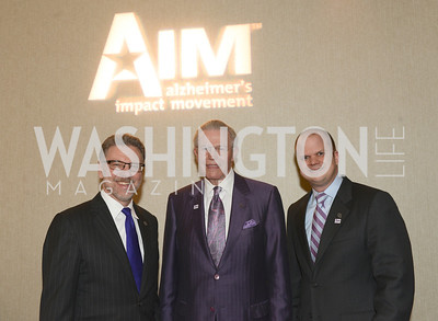 Harry Johns, Gerry Sampson, Rob Egan, National Alzheimer's Association Dinner at the Renaissance Hotel.  Honoring music legend Glen Campbell.  Photo by Ben Droz.