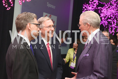 Harry Johns, Senator Mitch McConnell, Gerry Sampson, National Alzheimer's Association Dinner at the Renaissance Hotel.  Honoring music legend Glen Campbell.  Photo by Ben Droz.