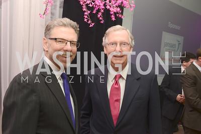 Harry Johns, Senator Mitch McConnell, National Alzheimer's Association Dinner at the Renaissance Hotel.  Honoring music legend Glen Campbell.  Photo by Ben Droz.