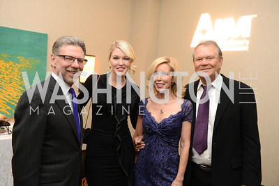 Harry Johns, Ashley Campbell, Kimberly Woolen, Glen Campbell, National Alzheimer's Association Dinner at the Renaissance Hotel.  Honoring music legend Glen Campbell.  Photo by Ben Droz.