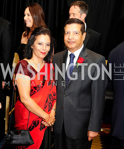 Kalpana Sharma,Nepalese Amb.Shankar Prasad Sharma, September 11,2013,Ambassadors Ball,Kyle Samperton