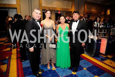 Amb.of Azerbaijan Elin Suleymanov,Lala Suleymanov,Amb. Of EcuadorNathalie Cely,Ivan Hernandez ,,September 11,2013,Ambassadors Ball,Kyle Samperton