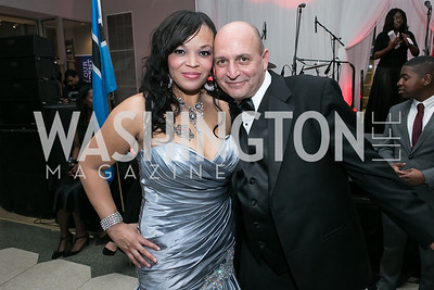 Nachanza Roberts, Brian Afanador. Photo by Alfredo Flores. Ambassadors Ball. Carnegie Library at Mt. Vernon. January 21, 2013.