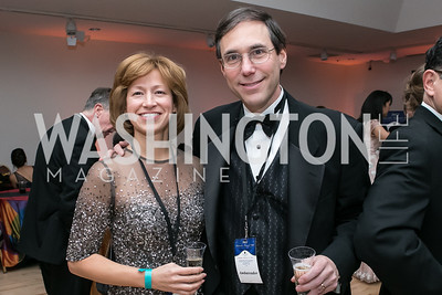 Mary Fuska, Craig Sable. Photo by Alfredo Flores. Ambassadors Ball. Carnegie Library at Mt. Vernon. January 21, 2013.