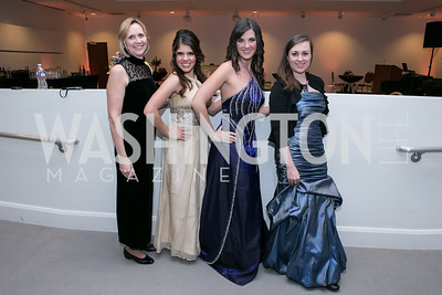 Dawn Conklin, Jessica Pena, Brittany Ellenberg, Irina Karnanova. Photo by Alfredo Flores. Ambassadors Ball. Carnegie Library at Mt. Vernon. January 21, 2013.