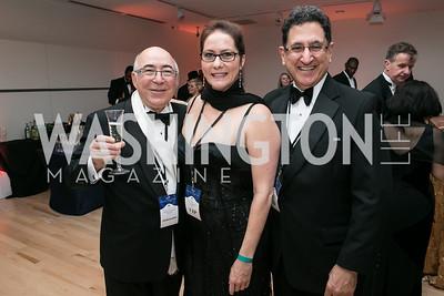 Charles Dahan, Elisabeth Myers, Jean Abinador. Photo by Alfredo Flores. Ambassadors Ball. Carnegie Library at Mt. Vernon. January 21, 2013.